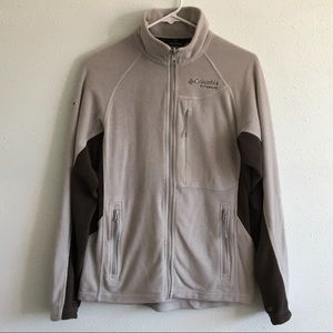 Columbia Titanium Full Zip Fleece Jacket Grey Mens